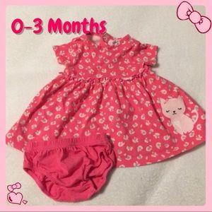 Pink Animal Print Kitty Dress